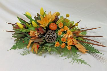 Inspired Designs Fall Centerpiece Without Candle from Bakanas Florist & Gifts, flower shop in Marlton, NJ