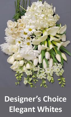 Designer's Choice Elegant Whites from Bakanas Florist & Gifts, flower shop in Marlton, NJ