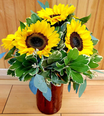 A Half Dozen Sunflowers from Bakanas Florist & Gifts, flower shop in Marlton, NJ