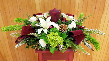 Our Premium Holiday Centerpiece from Bakanas Florist & Gifts, flower shop in Marlton, NJ