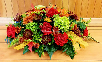 Autumn Brilliance Centerpiece from Bakanas Florist & Gifts, flower shop in Marlton, NJ
