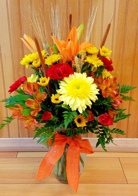 Hand Tied Fall Vase from Bakanas Florist & Gifts, flower shop in Marlton, NJ