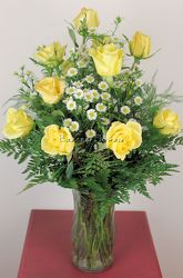 A Dozen Yellow Roses from Bakanas Florist & Gifts, flower shop in Marlton, NJ