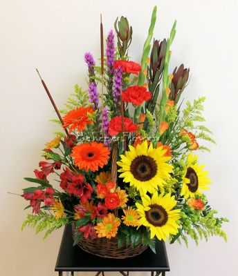 Autumn Essence Basket from Bakanas Florist & Gifts, flower shop in Marlton, NJ