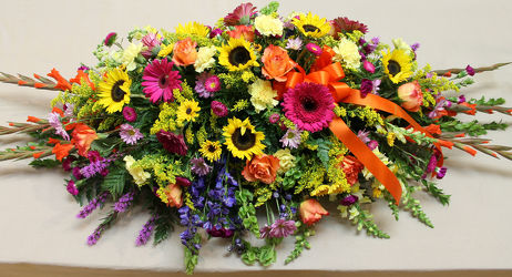 Summer Memory Casket Spray from Bakanas Florist & Gifts, flower shop in Marlton, NJ