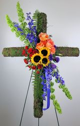 Our Celebration of Life Tribute Cross from Bakanas Florist & Gifts, flower shop in Marlton, NJ