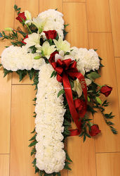 Roses & Lilies Cross from Bakanas Florist & Gifts, flower shop in Marlton, NJ