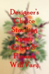 Designer's Choice Standing Spray from Bakanas Florist & Gifts, flower shop in Marlton, NJ