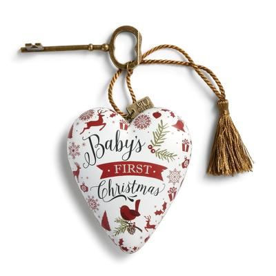 Baby's First Christmas Art Heart from Bakanas Florist & Gifts, flower shop in Marlton, NJ