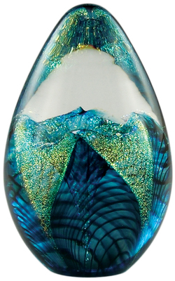 Aqua Flower Egg Paper Weight from Bakanas Florist & Gifts, flower shop in Marlton, NJ