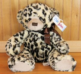 Leopard Print Plush Bear from Bakanas Florist & Gifts, flower shop in Marlton, NJ