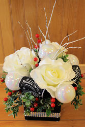 Season's Greeting Silk Arrangement     from Bakanas Florist & Gifts, flower shop in Marlton, NJ