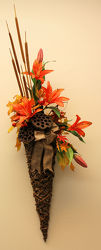 Fall Lily Wall Hanging  from Bakanas Florist & Gifts, flower shop in Marlton, NJ