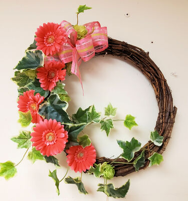 Small Silk Wreath from Bakanas Florist & Gifts, flower shop in Marlton, NJ