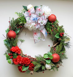 Berries & Holly Holiday Wreath  from Bakanas Florist & Gifts, flower shop in Marlton, NJ