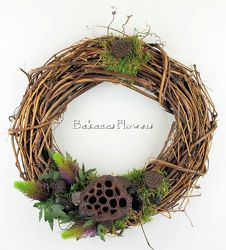 Lotus Pod Wreath from Bakanas Florist & Gifts, flower shop in Marlton, NJ
