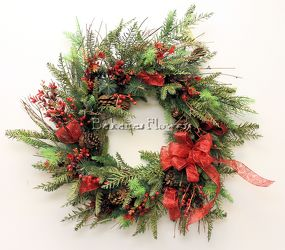 Holiday Wreath  from Bakanas Florist & Gifts, flower shop in Marlton, NJ