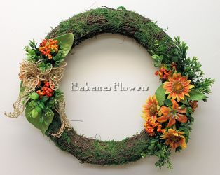 Summer Silk Wreath from Bakanas Florist & Gifts, flower shop in Marlton, NJ