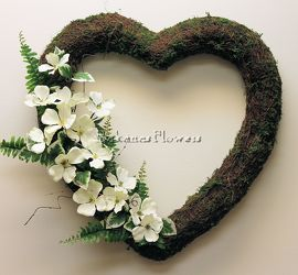 Heart Wreath from Bakanas Florist & Gifts, flower shop in Marlton, NJ