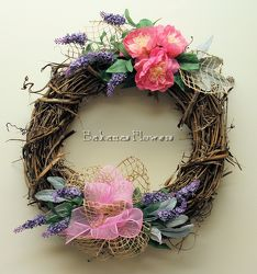 Spring Silk Wreath from Bakanas Florist & Gifts, flower shop in Marlton, NJ