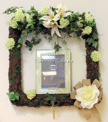 Photo Frame Wreath from Bakanas Florist & Gifts, flower shop in Marlton, NJ