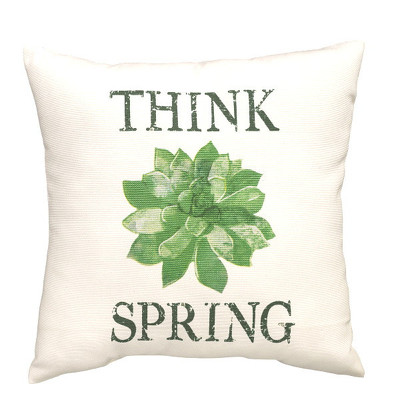 """Think Spring"" Pillow from Bakanas Florist & Gifts, flower shop in Marlton, NJ"
