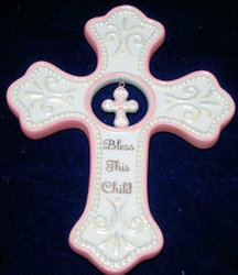 Bless This Child Cross from Bakanas Florist & Gifts, flower shop in Marlton, NJ
