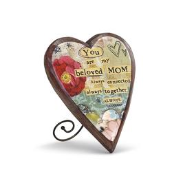 Mom Wood Carved Heart from Bakanas Florist & Gifts, flower shop in Marlton, NJ
