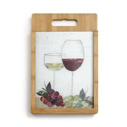 Wine Glasses Cutting Board Set from Bakanas Florist & Gifts, flower shop in Marlton, NJ