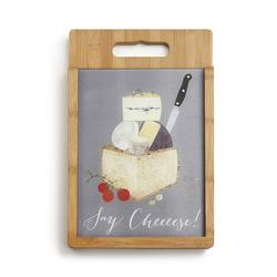 Say Cheese- Wood & Glass Cutting Board set from Bakanas Florist & Gifts, flower shop in Marlton, NJ
