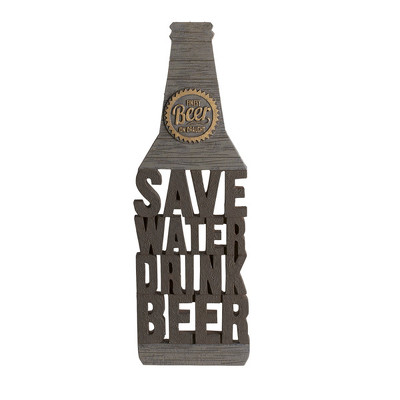 """Save Water Drink Beer"" Plaque from Bakanas Florist & Gifts, flower shop in Marlton, NJ"