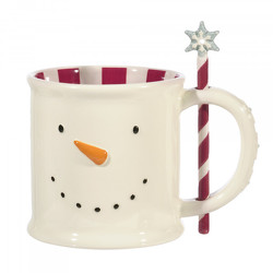 Snowman Hot Cocoa Mug with Stirrer from Bakanas Florist & Gifts, flower shop in Marlton, NJ