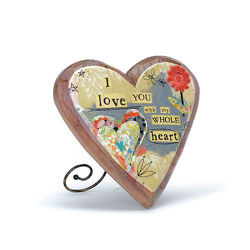 Love Wood Carved Heart from Bakanas Florist & Gifts, flower shop in Marlton, NJ