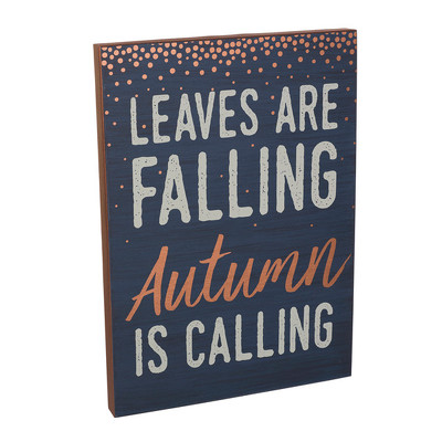 """Leaves Are Falling"" Sign from Bakanas Florist & Gifts, flower shop in Marlton, NJ"