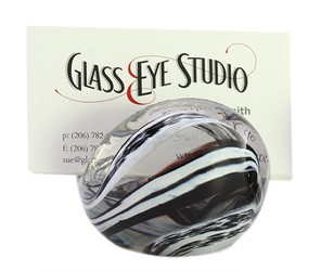 Black & White Glass Eye Business Card Holder from Bakanas Florist & Gifts, flower shop in Marlton, NJ
