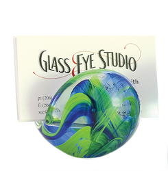 Blue & Green Glass Eye Business Card Holder from Bakanas Florist & Gifts, flower shop in Marlton, NJ