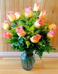 Our Dozen Free Spirit Roses    from Bakanas Florist & Gifts, flower shop in Marlton, NJ