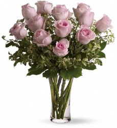 A Dozen Pink Roses from Bakanas Florist & Gifts, flower shop in Marlton, NJ