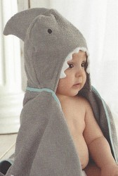 Shark Hooded Towel with Bath Toys Set from Bakanas Florist & Gifts, flower shop in Marlton, NJ