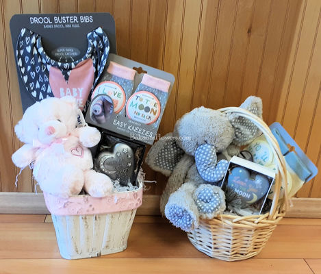 New Baby Gift Baskets from Bakanas Florist & Gifts, flower shop in Marlton, NJ