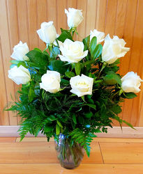White Roses from Bakanas Florist & Gifts, flower shop in Marlton, NJ