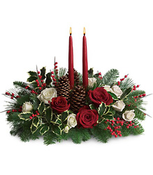 Christmas Wishes Centerpiece from Bakanas Florist & Gifts, flower shop in Marlton, NJ