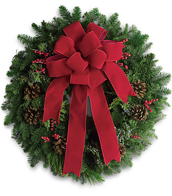 Classic Holiday Wreath from Bakanas Florist & Gifts, flower shop in Marlton, NJ