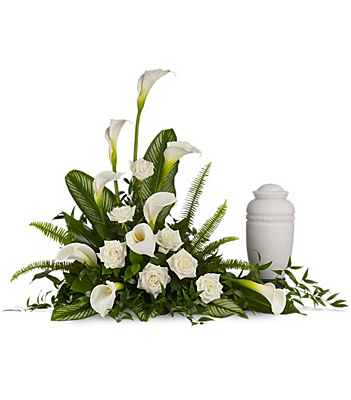 Stately Lilies Cremation Tribute from Bakanas Florist & Gifts, flower shop in Marlton, NJ