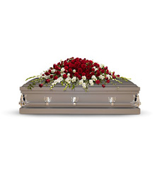 Garden of Grandeur Casket Spray from Bakanas Florist & Gifts, flower shop in Marlton, NJ