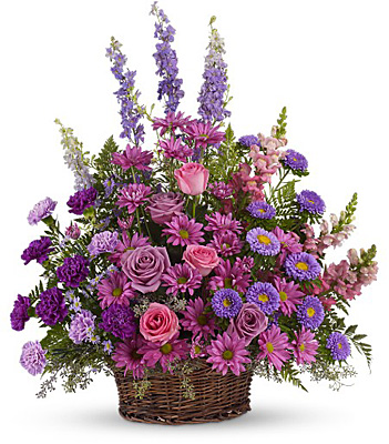 Gracious Lavender Basket from Bakanas Florist & Gifts, flower shop in Marlton, NJ