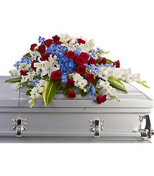 Distinguished Service Casket Spray from Bakanas Florist & Gifts, flower shop in Marlton, NJ