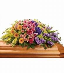 Garden of Sweet Memories Casket Spray from Bakanas Florist & Gifts, flower shop in Marlton, NJ