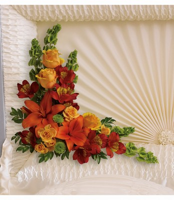 Island Sunset Casket Insert from Bakanas Florist & Gifts, flower shop in Marlton, NJ