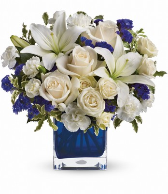 Sapphire Skies Bouquet from Bakanas Florist & Gifts, flower shop in Marlton, NJ